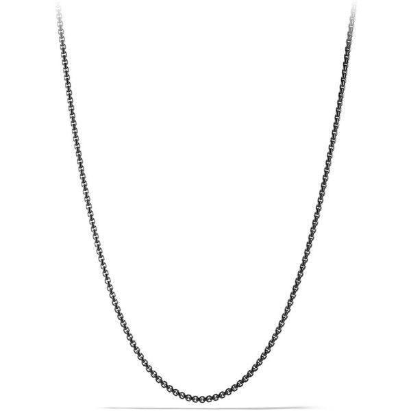 David Yurman Box Chain Necklace ($255) ❤ liked on Polyvore featuring men's fashion, men's jewelry, men's necklaces, apparel & accessories, silver, mens chain necklace, mens stainless steel chain necklace, mens box chain necklace, mens stainless steel necklace and david yurman mens necklace