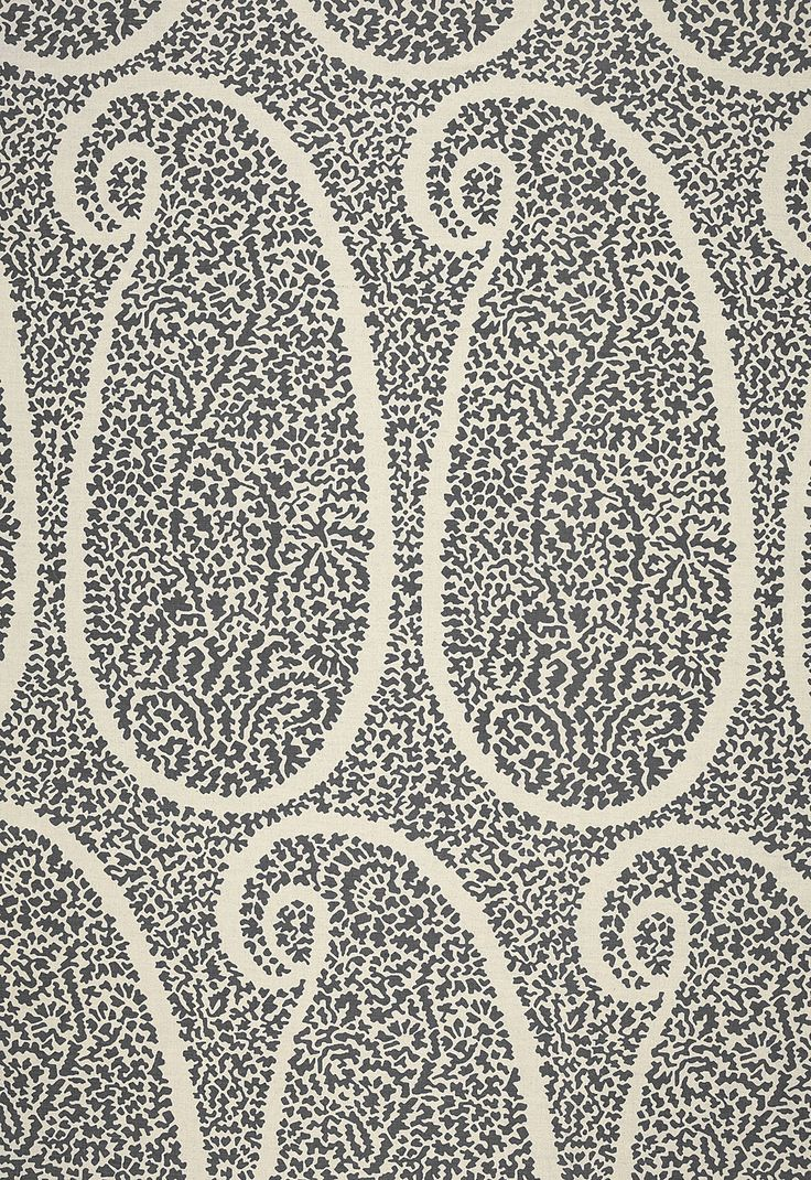 More on designer jamie drake the king of color simplified bee - Ambala Paisley Ash 174641 By Schumacher Fabric Au Naturel Prints And Weaves Linen Cotton Fabric Carolina Schumacher