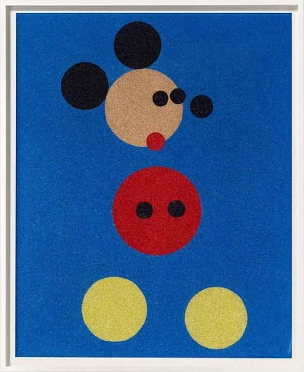 Mickey Mouse art by Damien Hirst