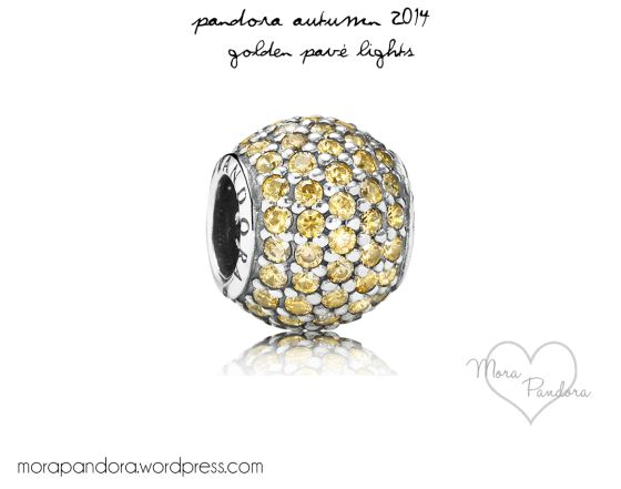 Pandora Autumn 2014 Golden Pave Lights Charm