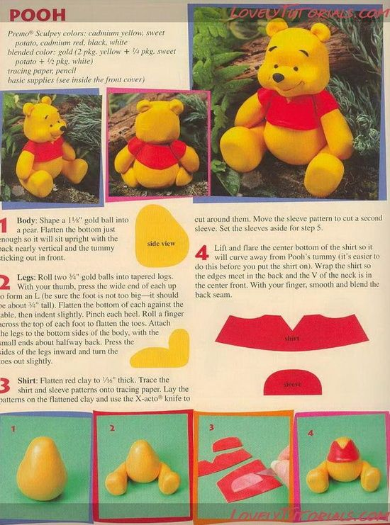 Winnie the Pooh Character Tutorials for Cake or Clay | Happy Learning Education Ideas