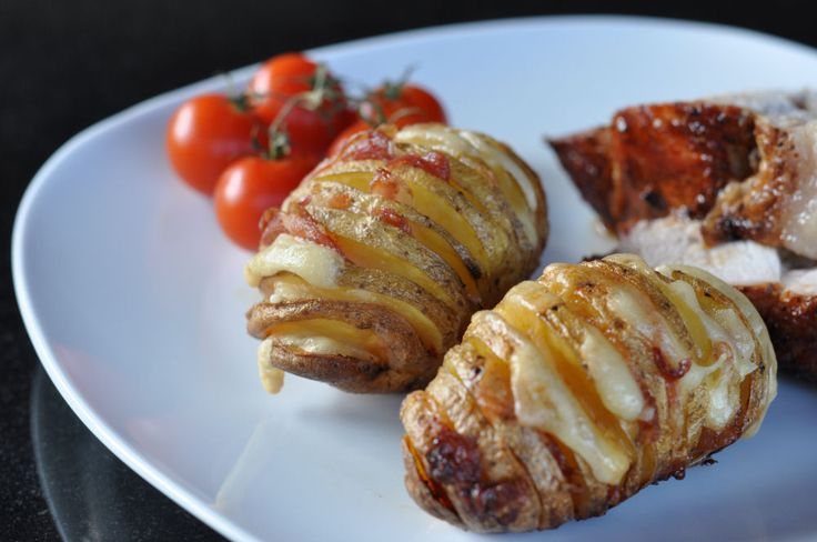 Bacon-Cheese Fächerkartoffeln - Hasselback Potatoes