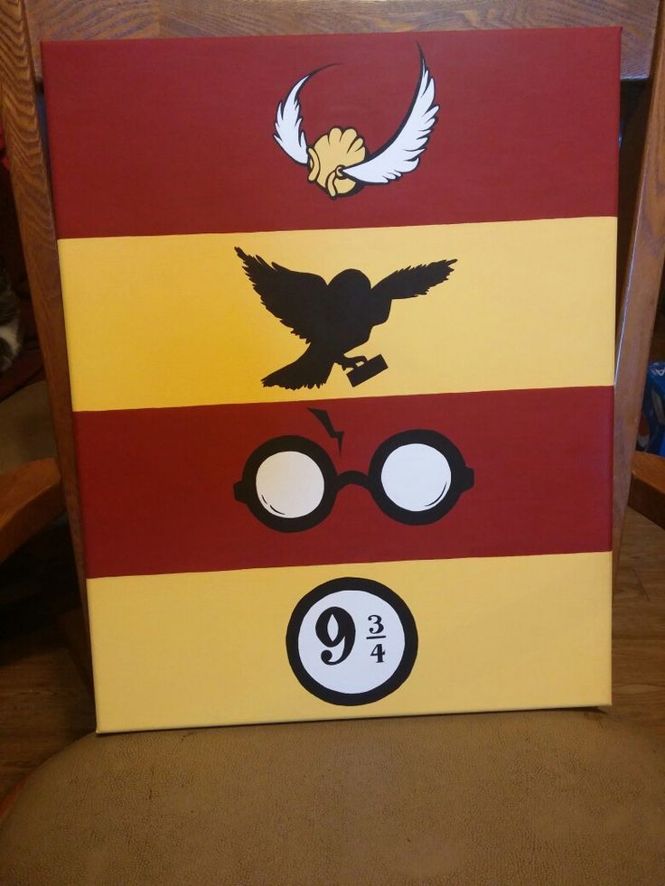 harry potter canvas painting