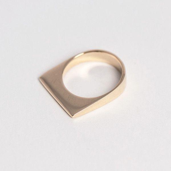 14k gold U Ring / PAUZE atelier / pauzeatelier.com