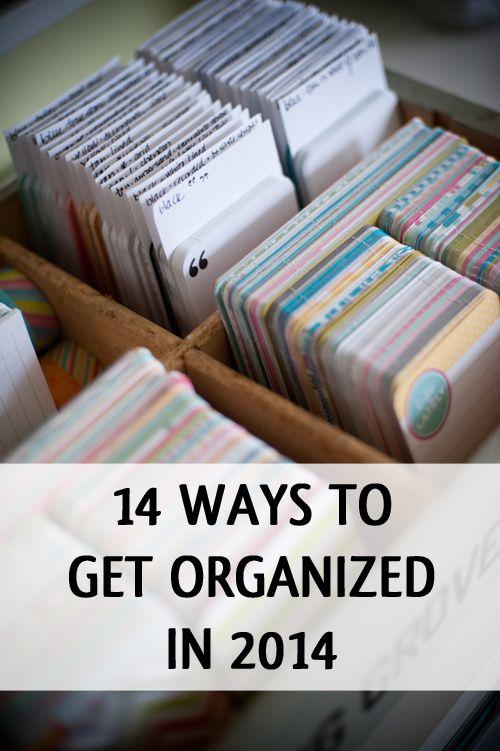 14 Ways to Get Organized in 2014