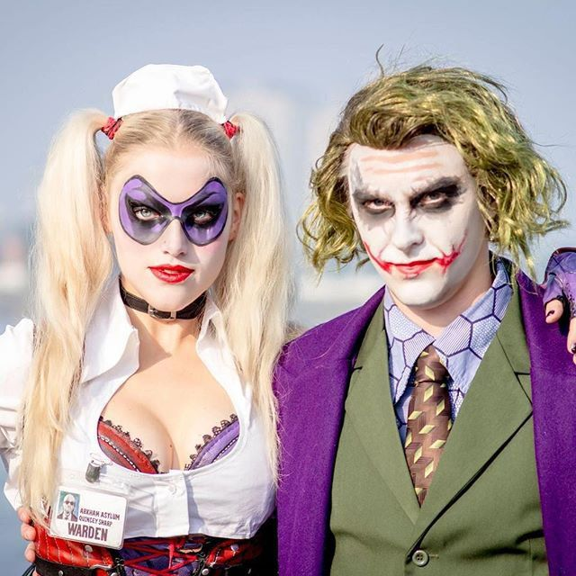 Pin for Later: 23 Kickass Comic-Book Costumes For Couples Harley Quinn and the Joker