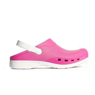 ΣΑΜΠΩ ΜΕ  ΑΠOΣΠΩΜΕΝΟ ΠΑΤΟ FUSHIA/WHITE Comfortable shoes