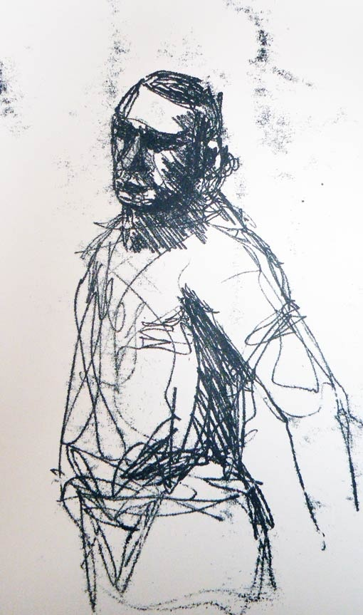 monoprint transfer drawing method