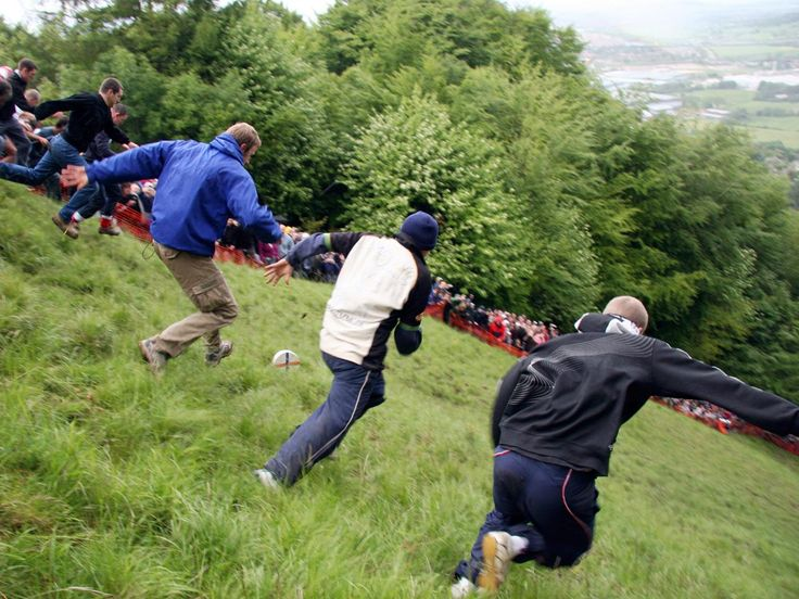 Competitors race down a steep hill -- known as Cooper's Hill, near Gloucester, England -- as they vie for the day's ultimate prize: a round of Double Gloucester cheese. This centuries-old tradition is held on the UK's Spring Bank Holiday, attracting not only locals from the nearby village of Brockworth but also people from all over the world.