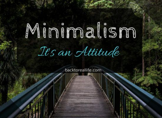 Minimalism isn't a fashion statement.  It's an attitude that you can embrace without donating all of your furniture to goodwill.