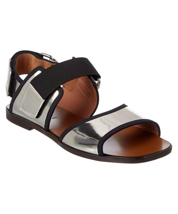 MARNI Marni Metallic Leather Double Band Sandal'. #marni #shoes #sandals