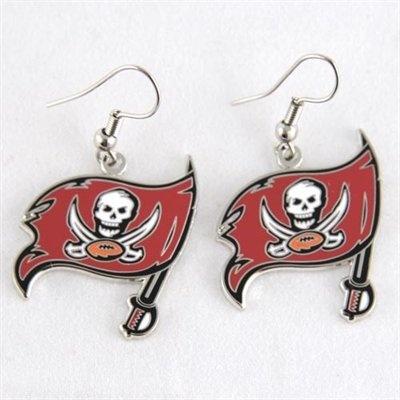 Tampa Bay Buccaneers Logo Wire Earrings