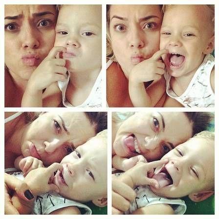 Davi Lucca with his mother Carolina Dantas♡