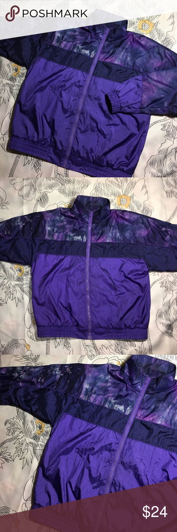 Vintage Windbreaker Jacket x Athletic Track x 90s Size Medium - Condition excellent 9.5/10 lavon Jackets & Coats