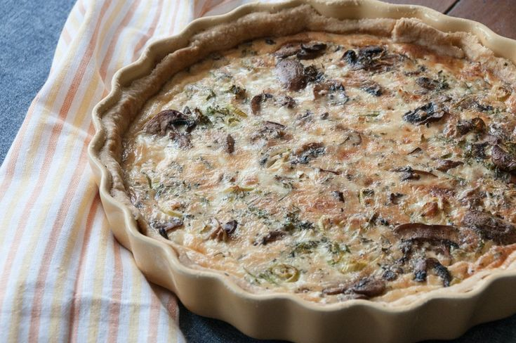 Sage and Brown Butter Mushroom Quiche