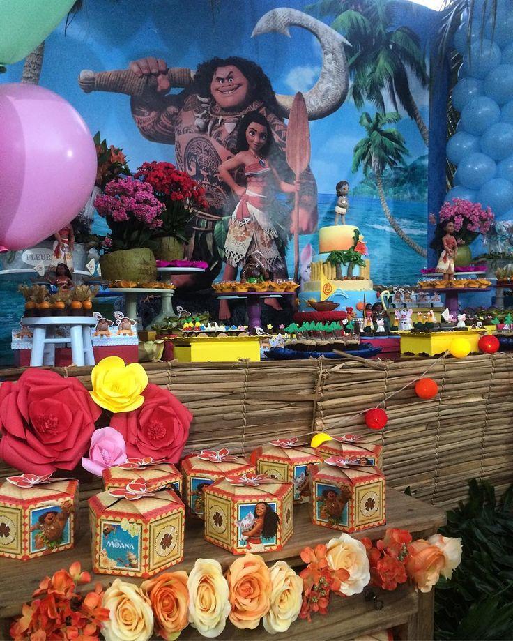 Mais detalhes da festa moana para Antonella #desserts #moana #festamoana #lindafesta #inspiracao ...