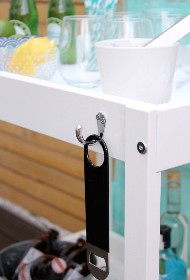DIY Bart Cart - How to transform an Ikea baby change table in to a bar cart - Satori Design for Living