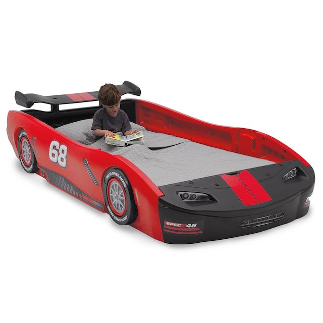 Delta Children Turbo Race Car Twin Bed With Images Twin Car