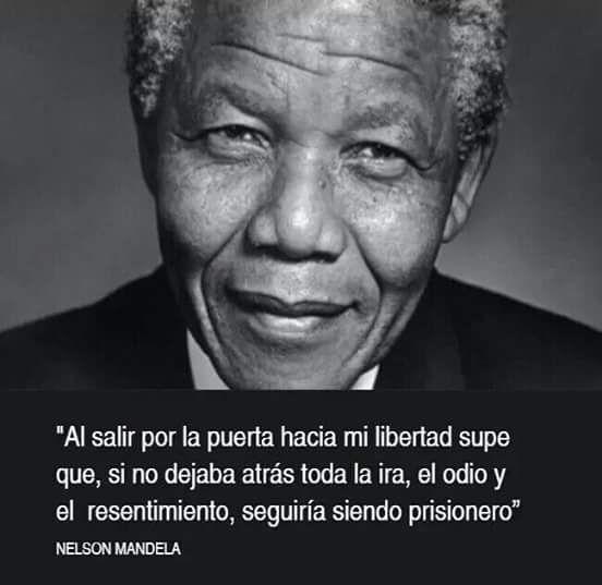Frase de Nelson Mandela.