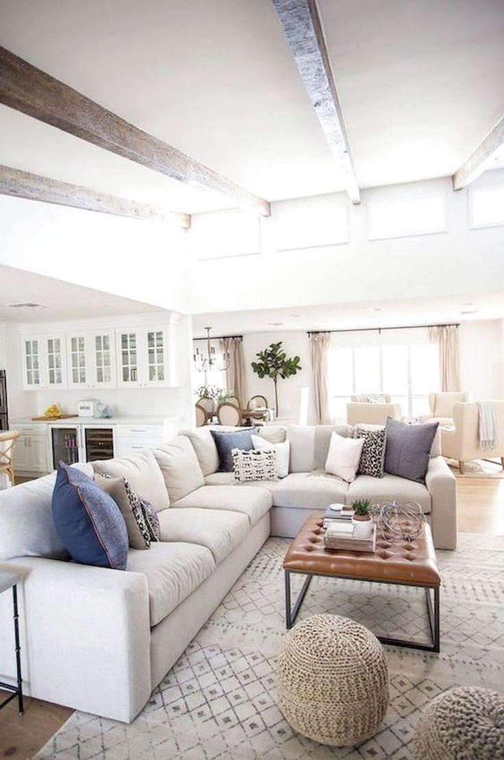 Modern Farmhouse Family Room Design Modern Farmhouse Living Room Design Neutral In 2020 Cottage Style Living Room Farmhouse Decor Living Room Farm House Living Room