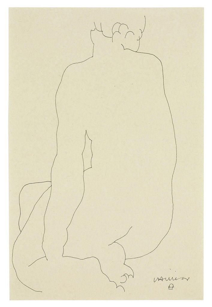 Eduardo Chillida (1924-2002)   Back of Woman   1940s, Drawings & Watercolors   Christie's