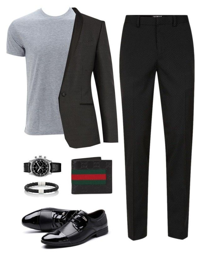 """Valentine's Date Outfit (Men)"" by saskyyy on Polyvore featuring Topman, Simplex Apparel, Dolce&Gabbana, Zenith, Gucci, Bottega Veneta, men's fashion and menswear"