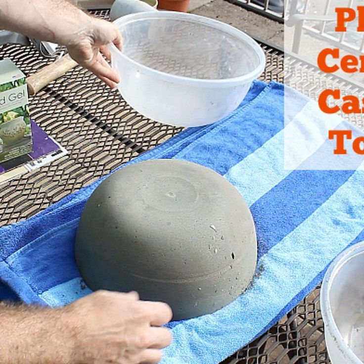 50 Concrete Tabletop Firepit