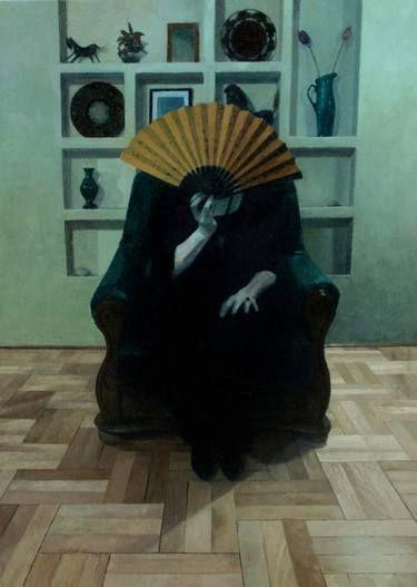 "Saatchi Art Artist Maria Danielak; Painting, ""Fan"" #art"