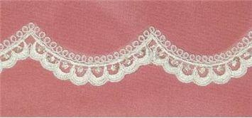 Alencon Trim ALTX75533A Ivory - Bridal Fabric by the Yard