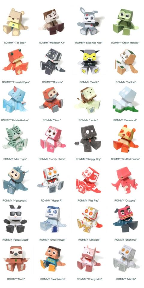 A collection of free printable paper toys. Paper toys are fun to make and fun to play with. Great for kids and adults. Jump on this fun new trend.
