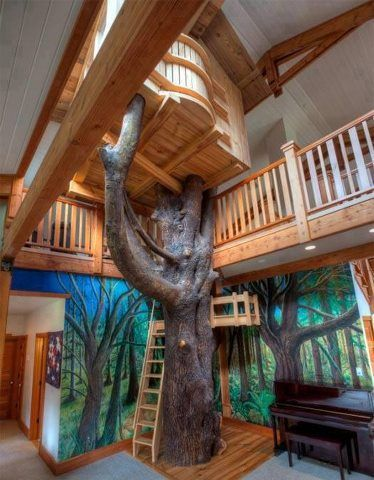 Amazing kid's space, bringing the outside, indoors!