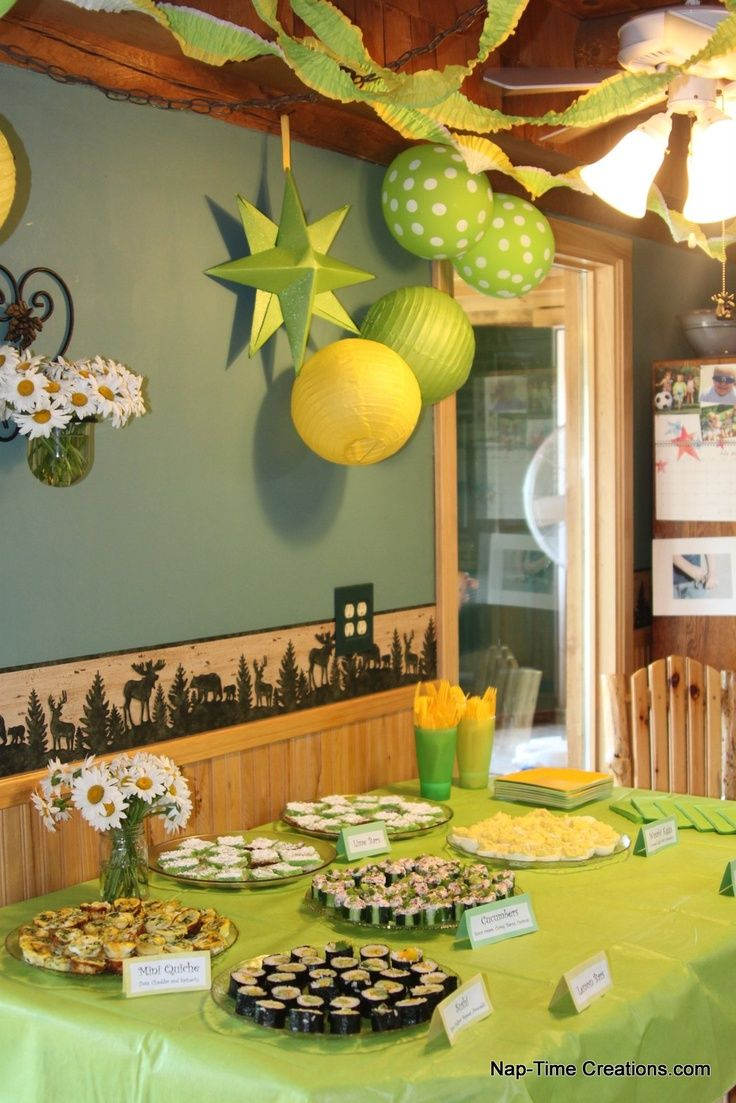 81 best green and yellow baby showers images on pinterest for Dekoration fur babyparty