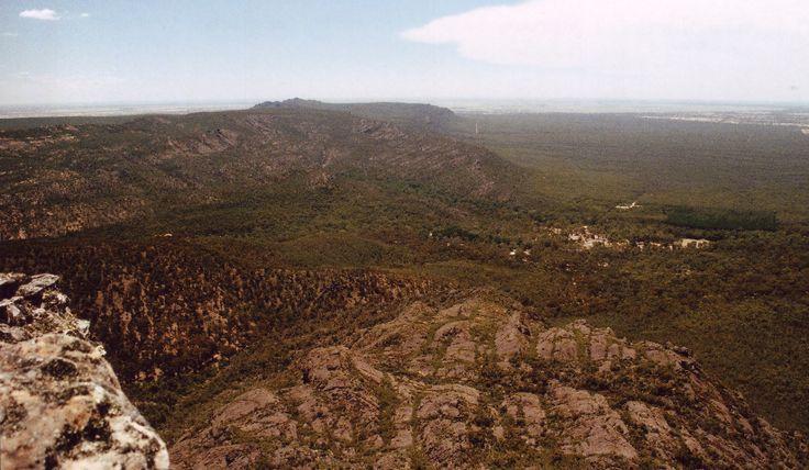 Grampians bushfire scar overlooking Roses Gap, from the Troopers Creek bushfire.