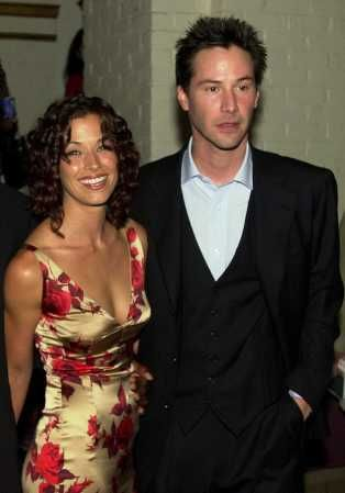 Keanu Reeves and Brooke Langton