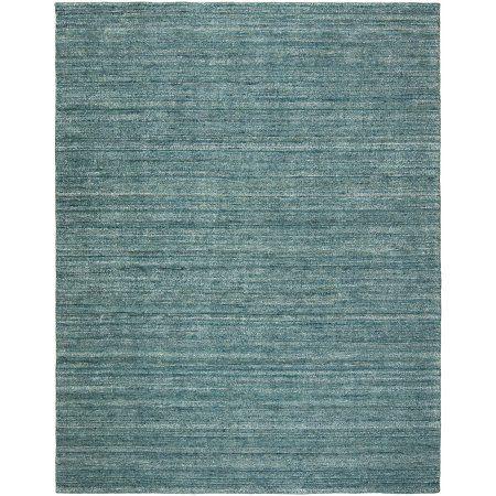 K2 Floor Style - Terra Cerulean Heather Hand Made Wool & Silkette™ Area Rug, Blue