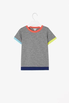 Contrast edge t-shirt