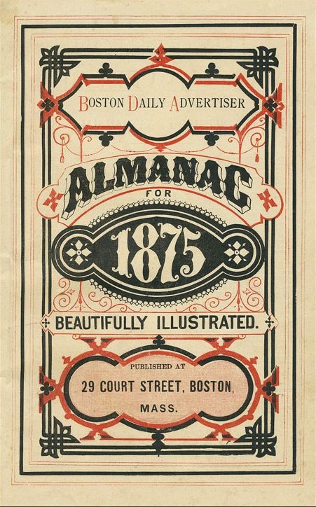 Gaslight Style Almanacs, Late 1800s  Beautiful colors. styles.. and layout