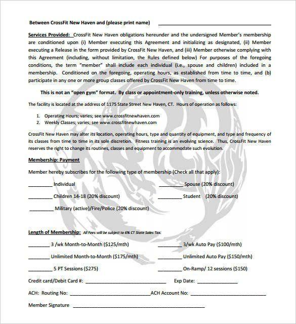 Gym Membership Contract Template New 12 Gym Membership Receipt
