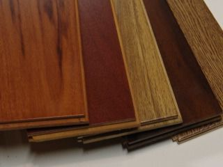cherry wood floors - a must! toss up btwn the 1st and 2nd one...prob the 2nd one tho. (heated, of course!)