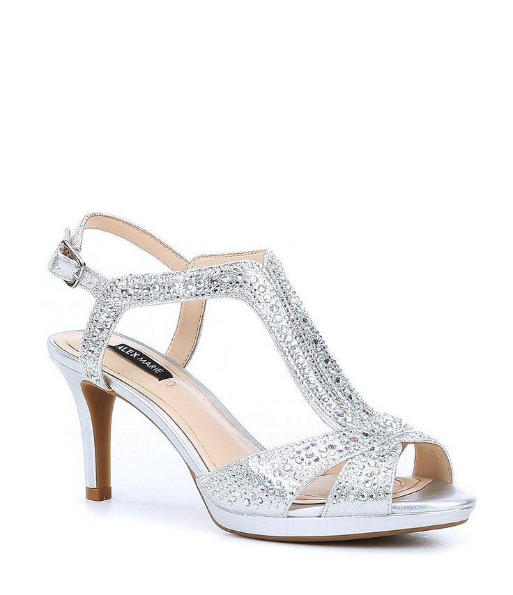 4a836438b1d4 Alex Marie Gianella Jeweled Metallic Fabric Dress Sandals in 2019 ...