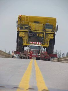 Western Star custom heavy haul loaded with a big off road dump in Canada Submitted by Abmiusem