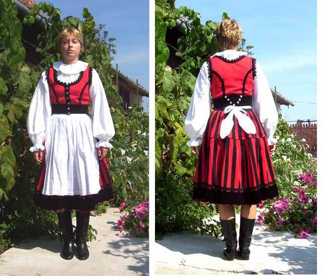Hungarian traditional costume: from the area of Székely in Transylvania