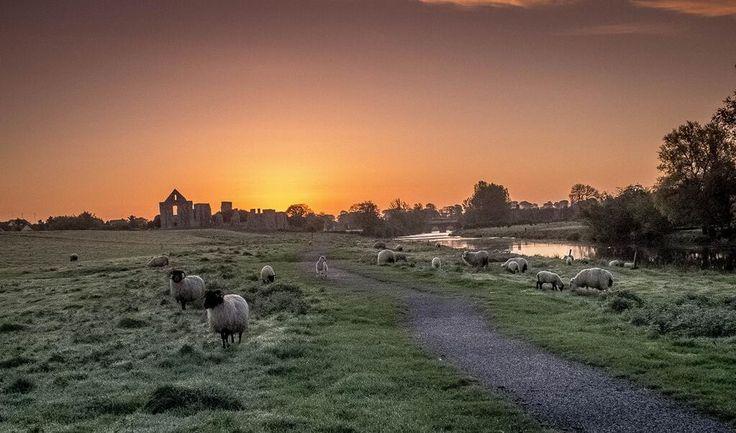 Trim co Meath sunrise over the Abbey shot on Fuji X20