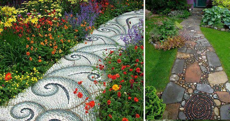 15 cestiček z oblázků – inspirace do zahrady