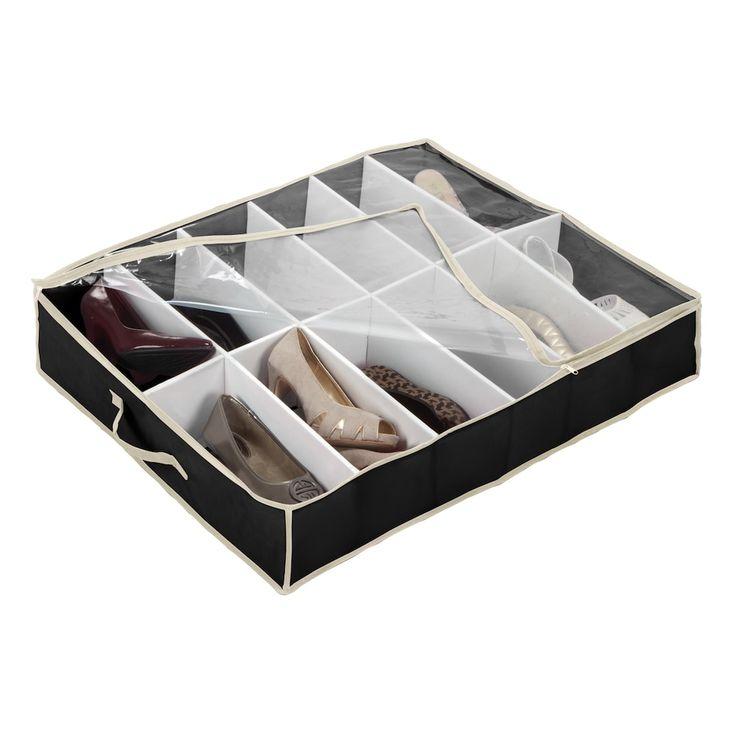 Black Underbed Shoe Storage