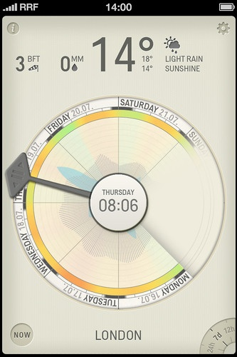 1 | With Partly Cloudy, Your iPhone Displays The Weather Like A Clock | Co.Design: business + innovation + design