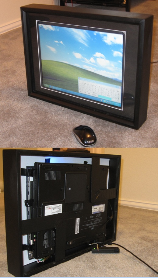 old laptop converted into a digital picture frame with wifi and bluetooth enabled to stream videos