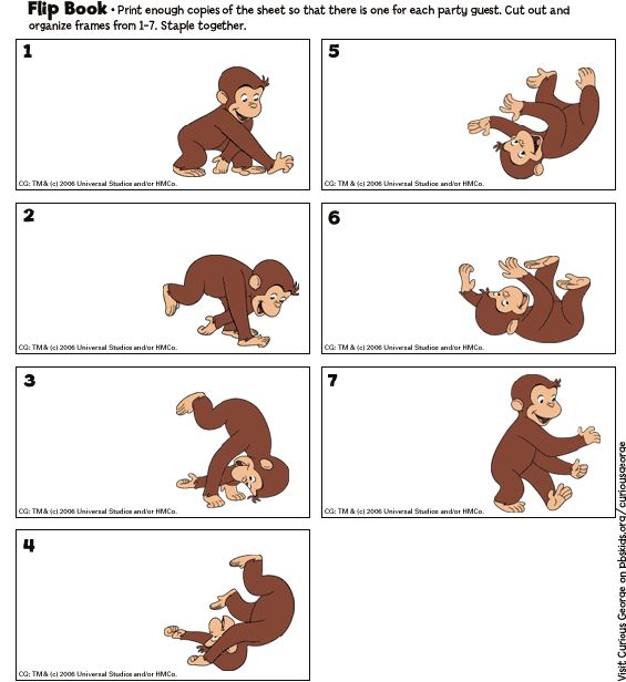 Curious George Imprimibles: Flip Book. La fiesta de cumpleaños. PBS Parents | PBS