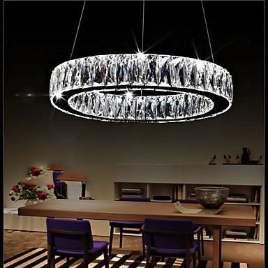 Crystal LED Chandelier Lights Lighting Modern Single Rings D50CM K9 Large Crystal Indoor Ceiling Light Fixtures – GBP £ 119.66