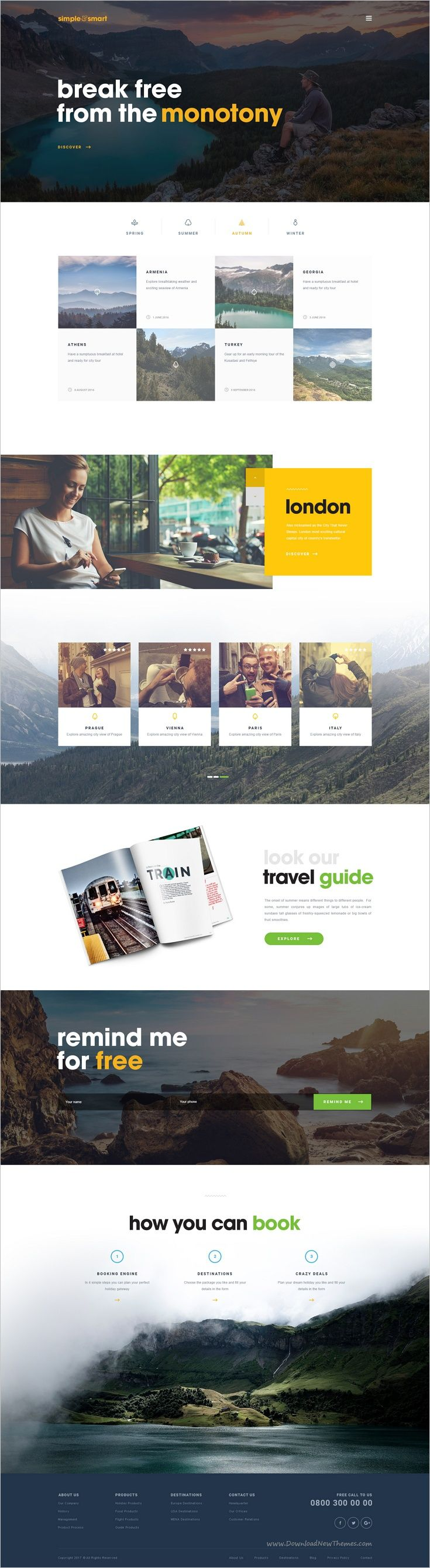 Simple and smart is a clean and professional #PSD template #travel #agency multipurpose websites with 4 unique homepage layouts and 14 organized PSD pages download now➩ https://themeforest.net/item/simple-and-smart-psd-template/18914090?ref=Datasata